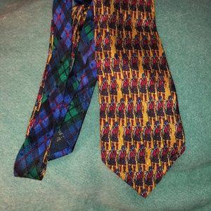 Ermenegildo Zegna Scottish Bagpipers Tartan silk t